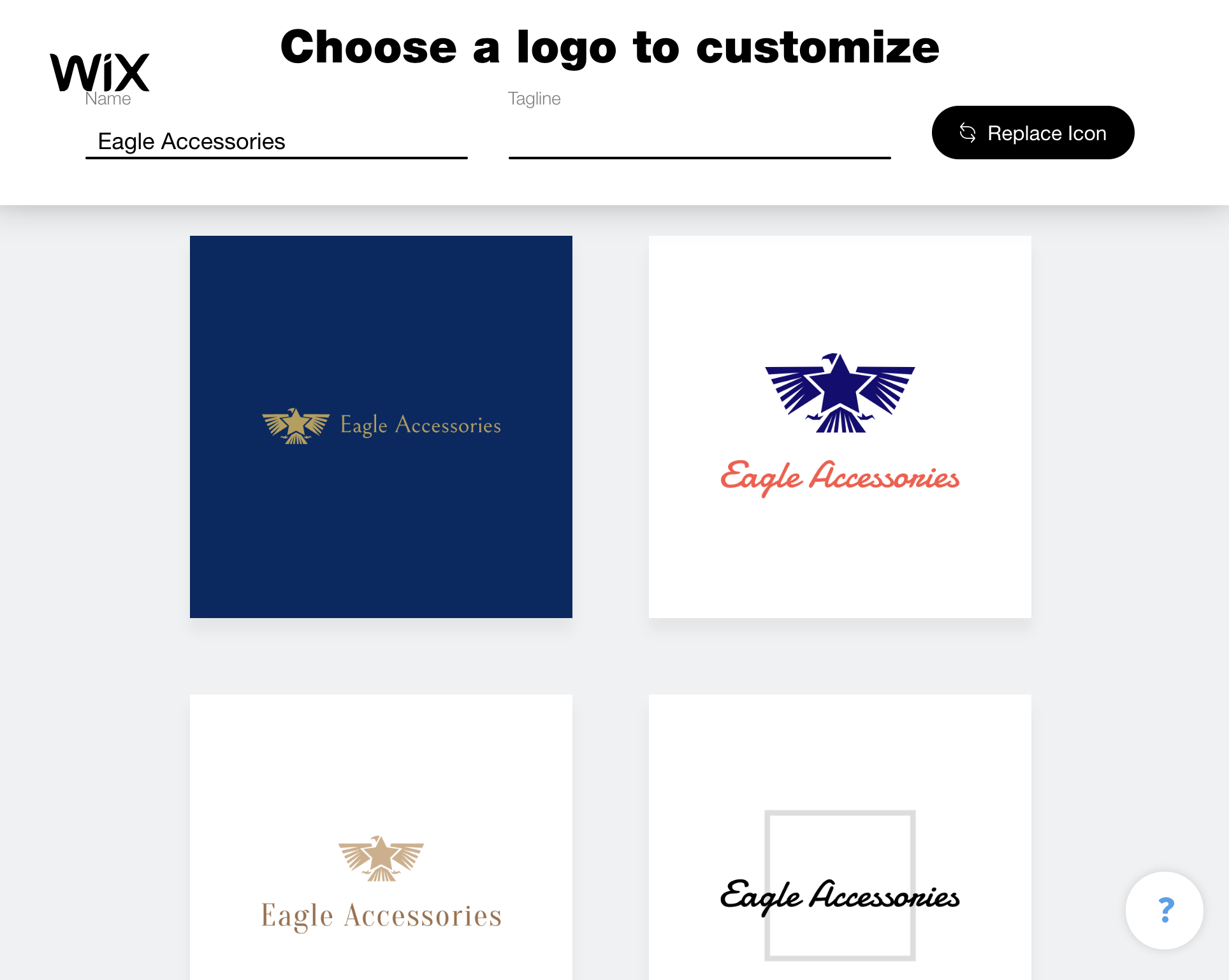 Wix Logo Maker screenshot - eagle logos