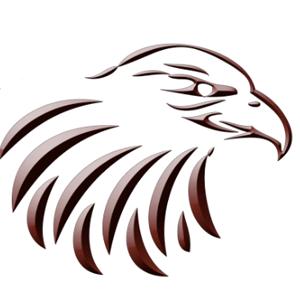 Eagle logo - grayscale