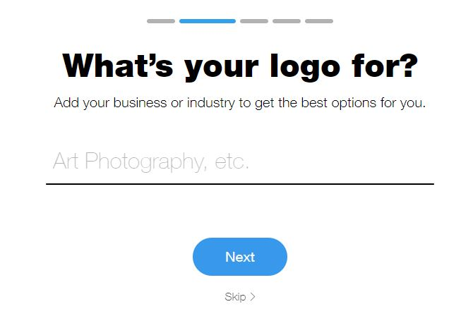 Wix Logo Maker screenshot - add industry