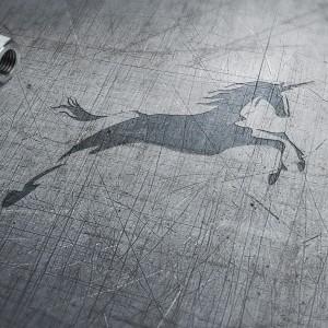 Horse logo - unicorn