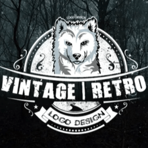 Wolf logo - Vintage Retro