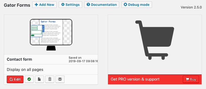 Gator Forms screenshot - Dashboard
