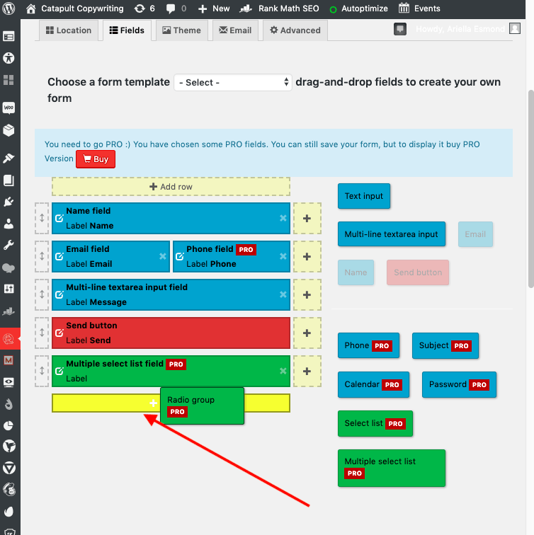 Gator Forms screenshot - Drag-and-drop interface