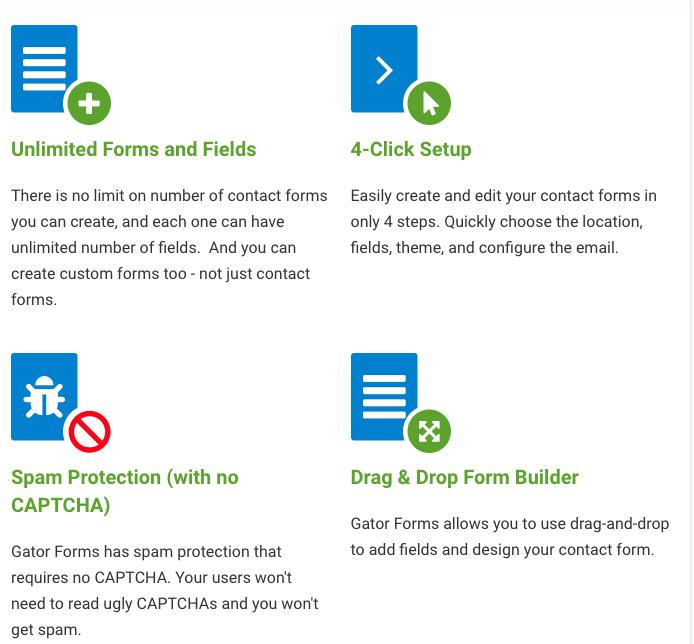 Gator Forms screenshot - Features