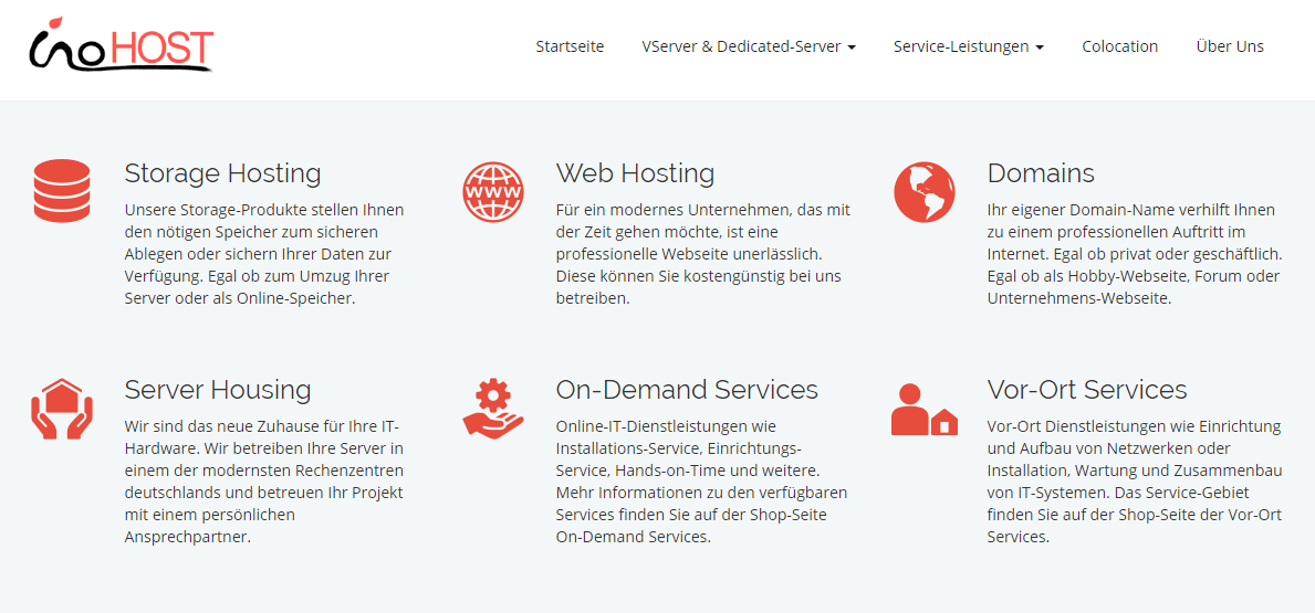 InoHost features