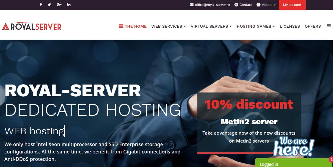 Royal-Server Main page