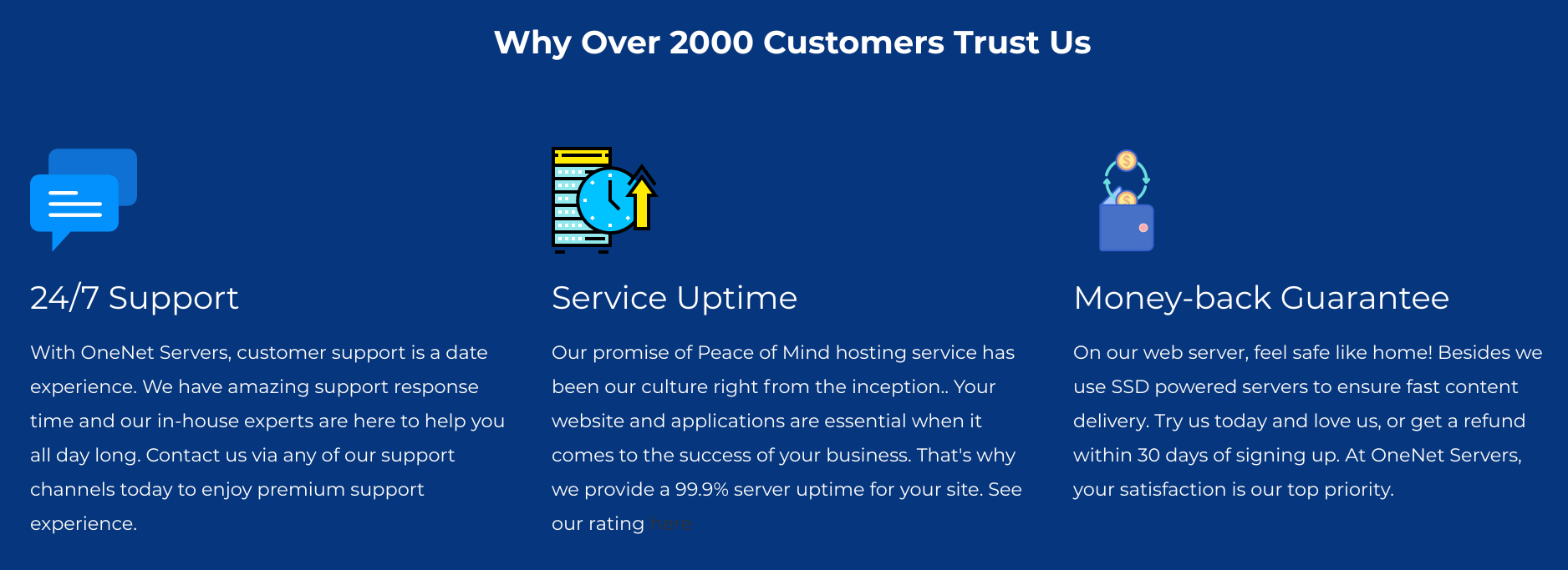 OneNet Servers Overview