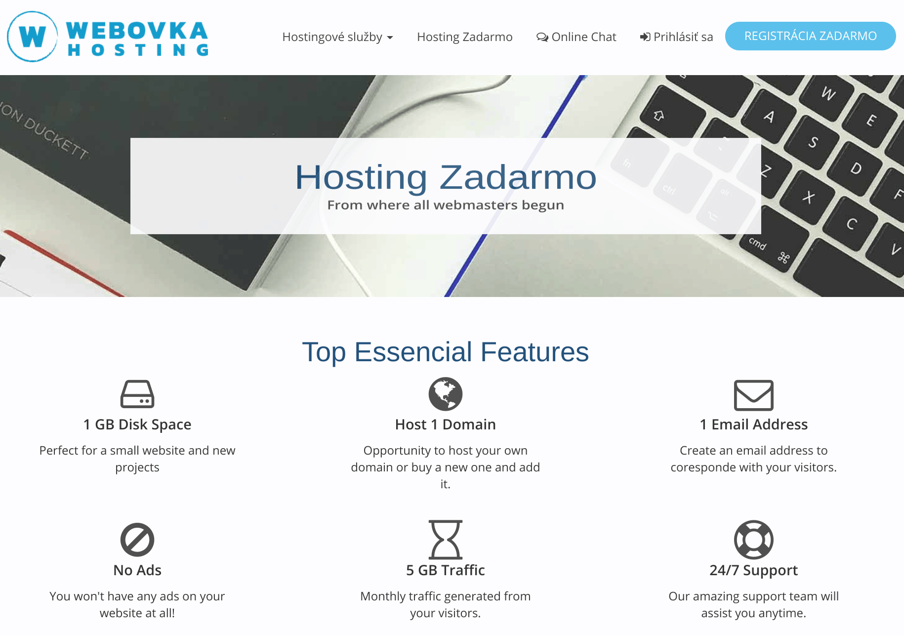 Webovka Hosting Overview