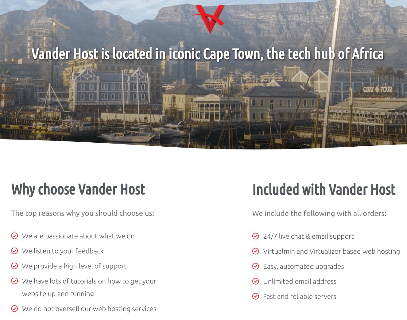 Vander Host Overview