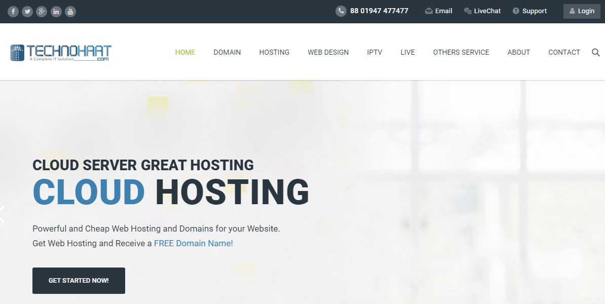 Techno Haat Main page