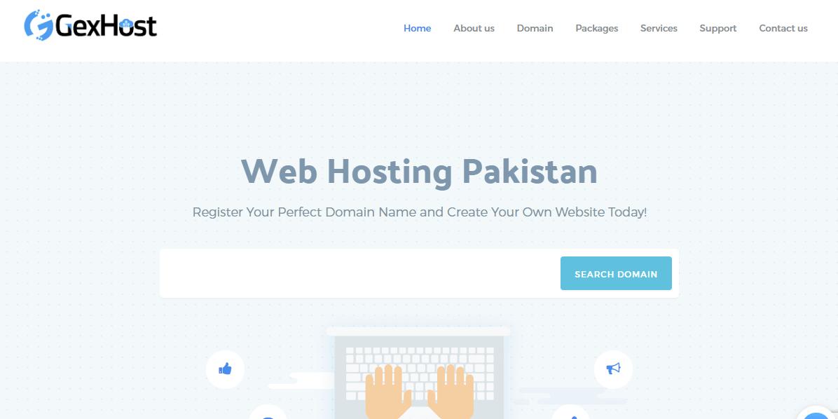 Web Hosting Pakistan Pk Domain Registration GexHost