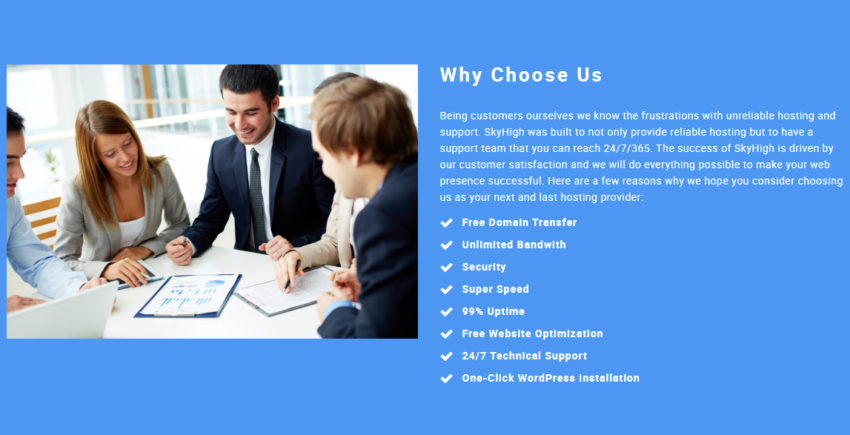 SkyHigh Services Features