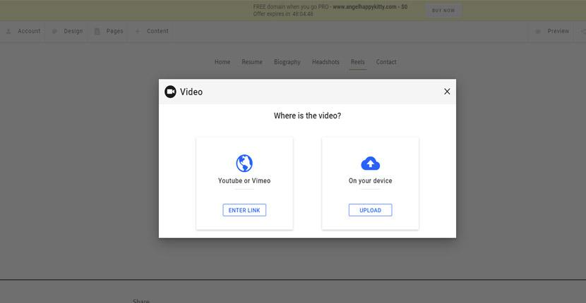 Adding a video to a SimpleSite website