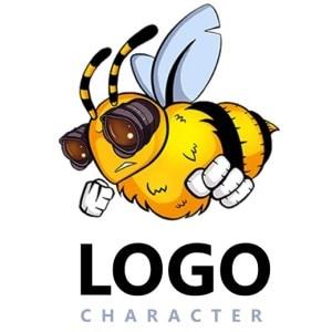Bee logo - Logo Character