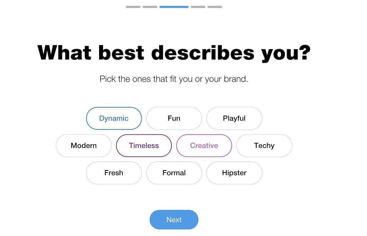 Wix Logo Maker screenshot - Brand words
