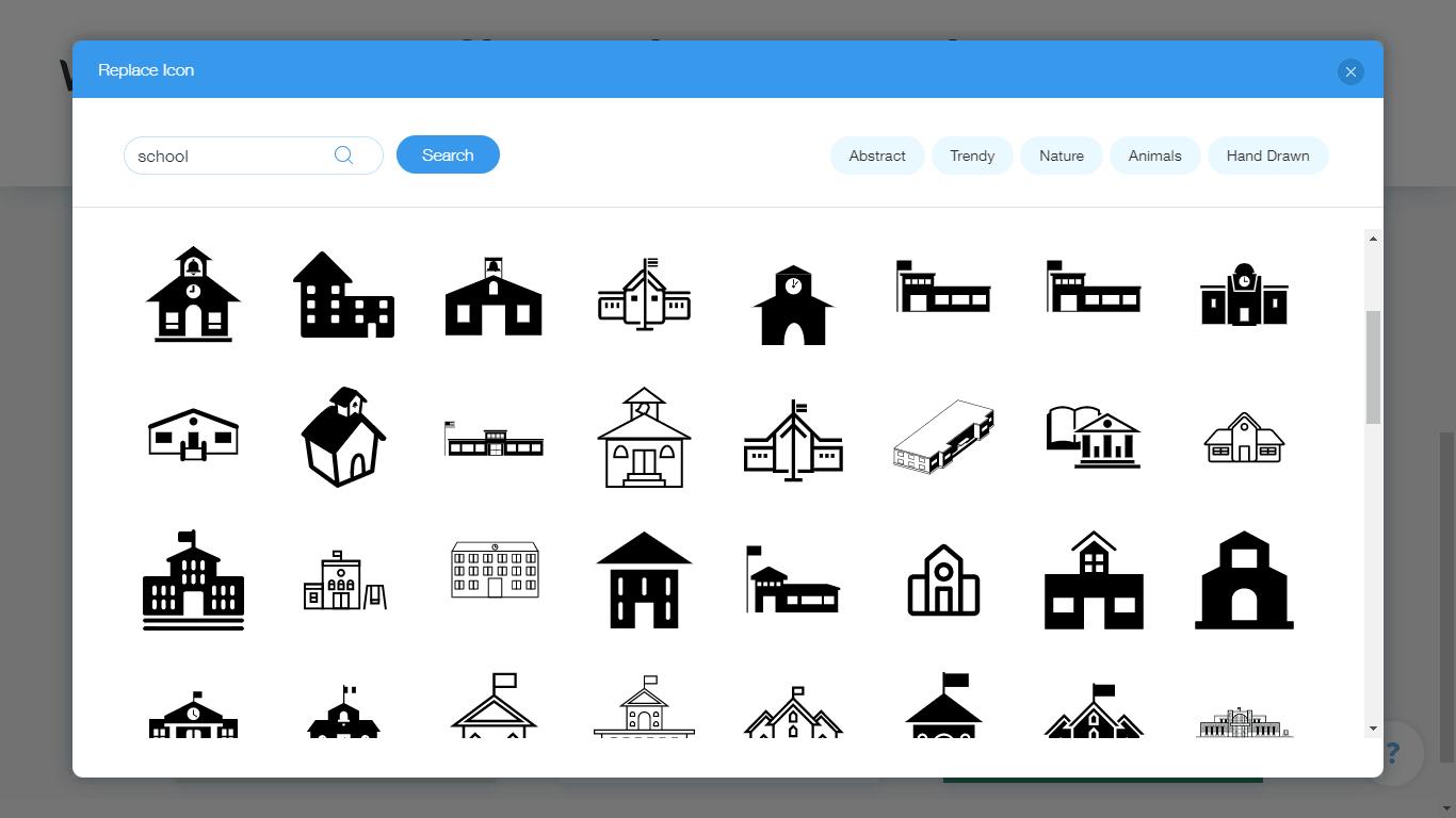Wix Logo Maker screenshot - School logo icons