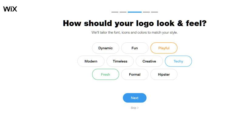 Wix Logo Maker screenshot - Logo look and feel