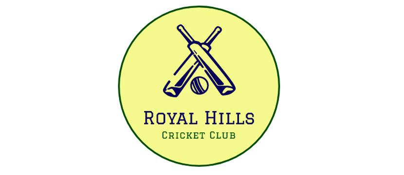 Sports logo made with Wix Logo Maker - Royal Hills Cricket Club