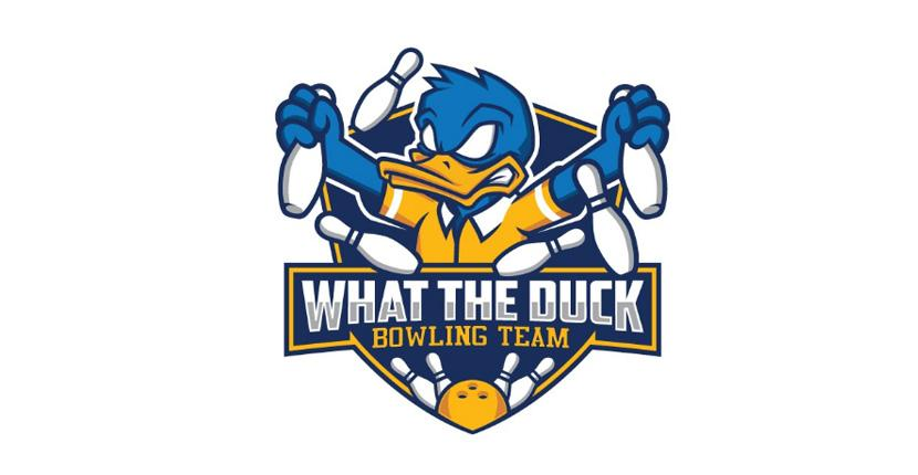Sports logo - What the Duck Bowling Team