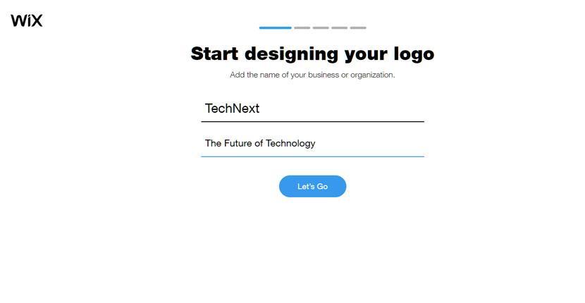 Wix Logo Maker screenshot - Start designing