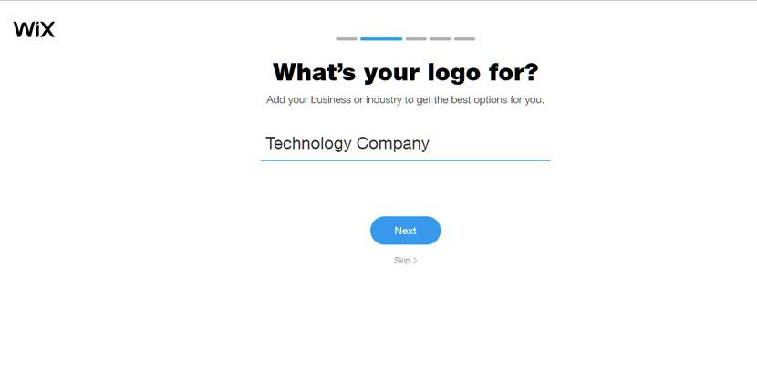 Wix Logo Maker screenshot - Add your industry