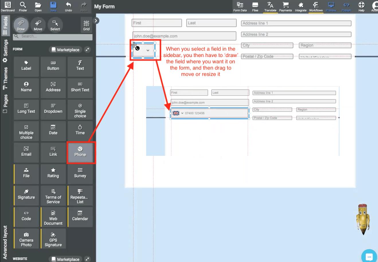 AbcSubmit screenshot - Form builder