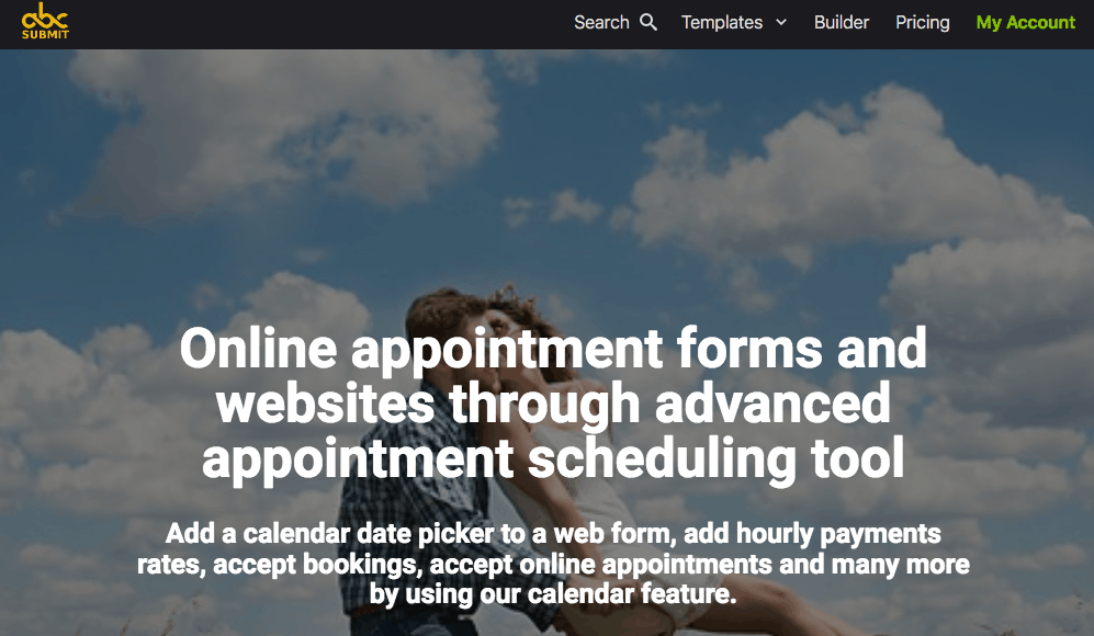 AbcSubmit screenshot - Online appointment scheduling