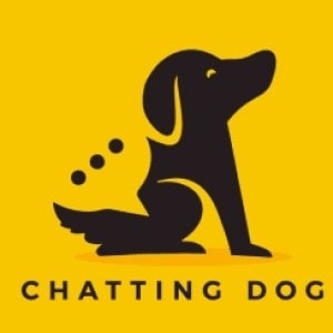 Dog logo - Chatting Dog