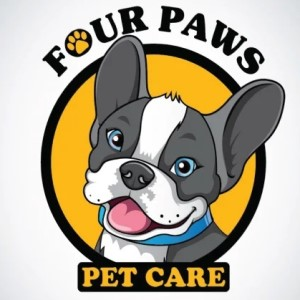 Dog logo - Four Paws Pet Care