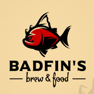 Fish logo - Badfin's Brew & Food