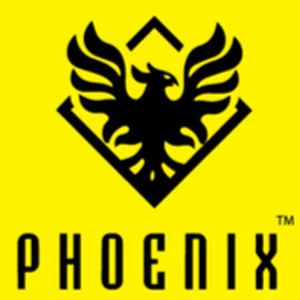 Phoenix logo - Black on yellow