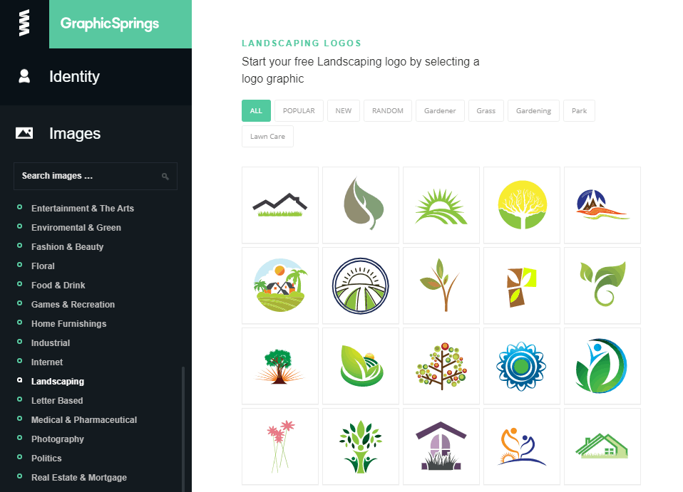 GraphicSprings screenshot - Landscaping images