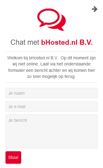 bHosted Klantenservice Chat