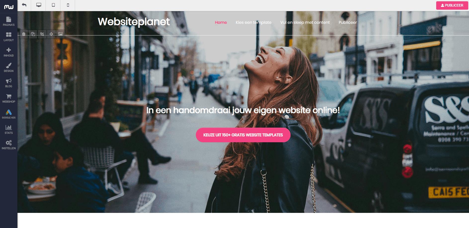 Website maken YourHosting MijnWebsite Sitebuilder