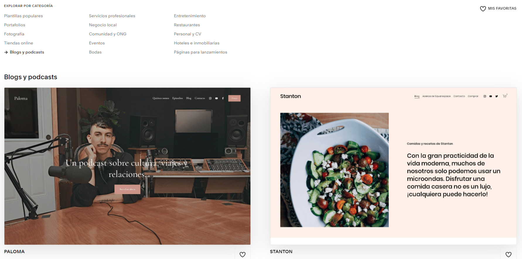 Squarespace Blogs & Podcasts templates