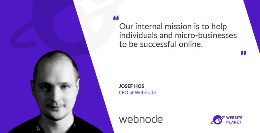 Website planet interview with Webnode CEO Josef Hos