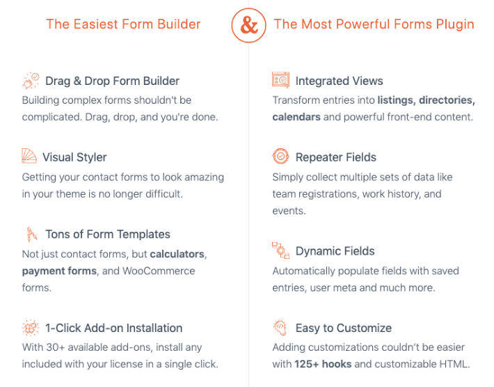 Formidable Forms screenshot - Ease of Use features