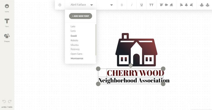 Ucraft Logo Maker screenshot - add new font