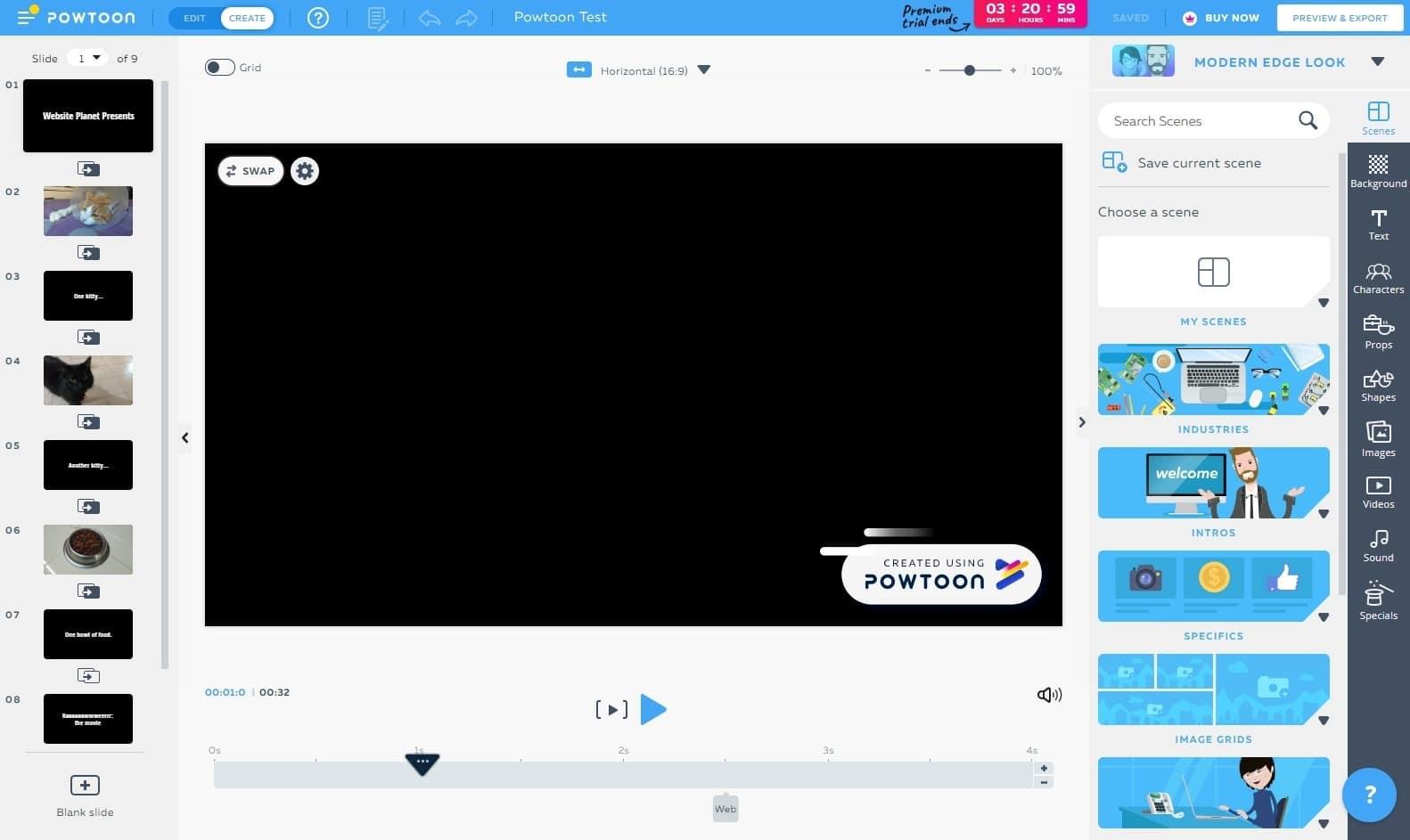 best online video editors - powtoon