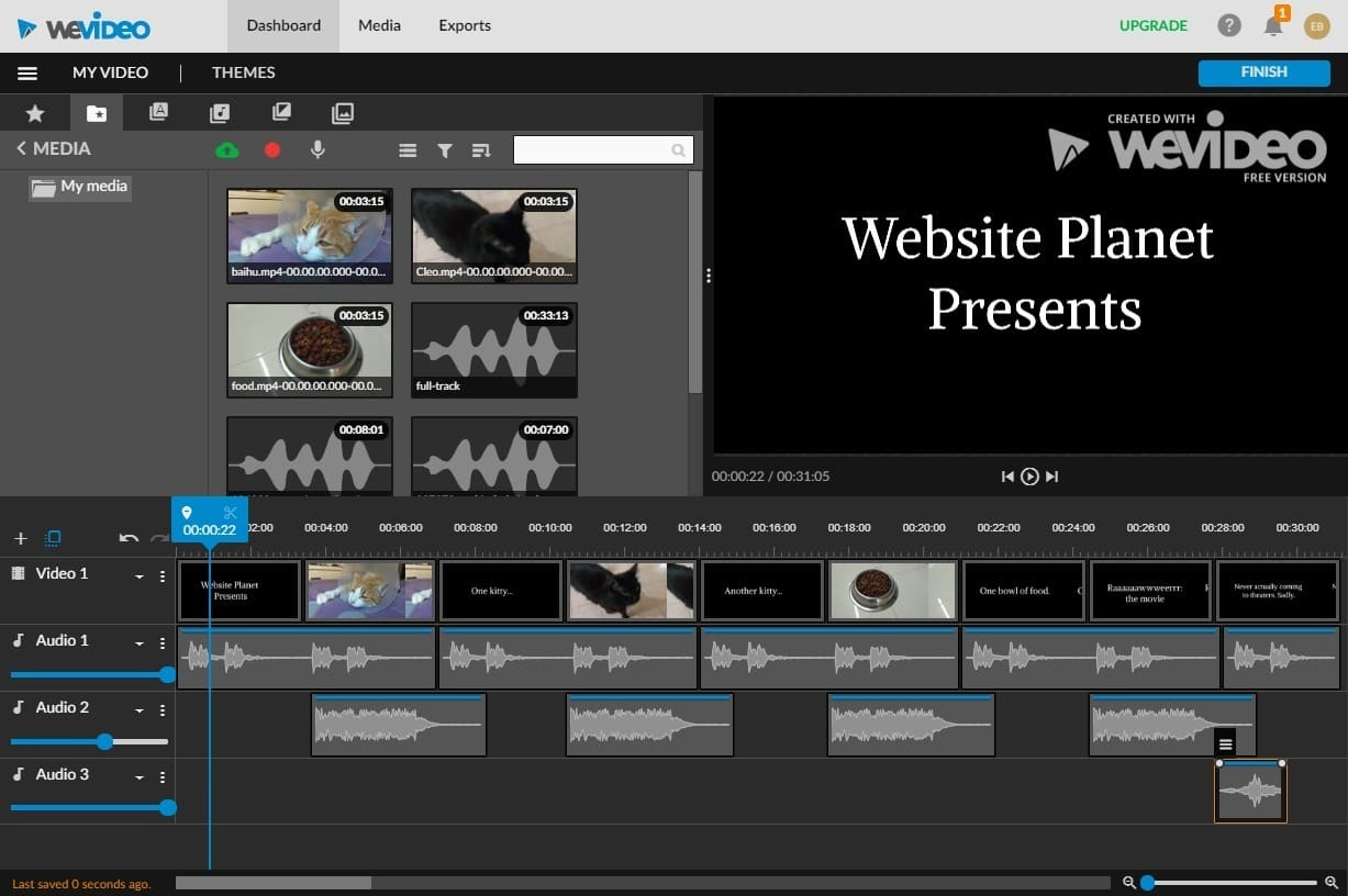 best online video editors - wevideo