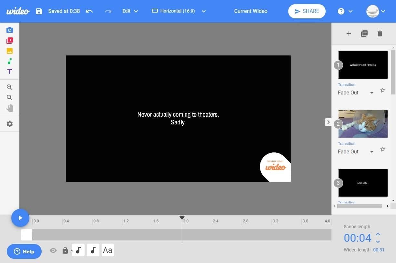 best online video editors - wideo