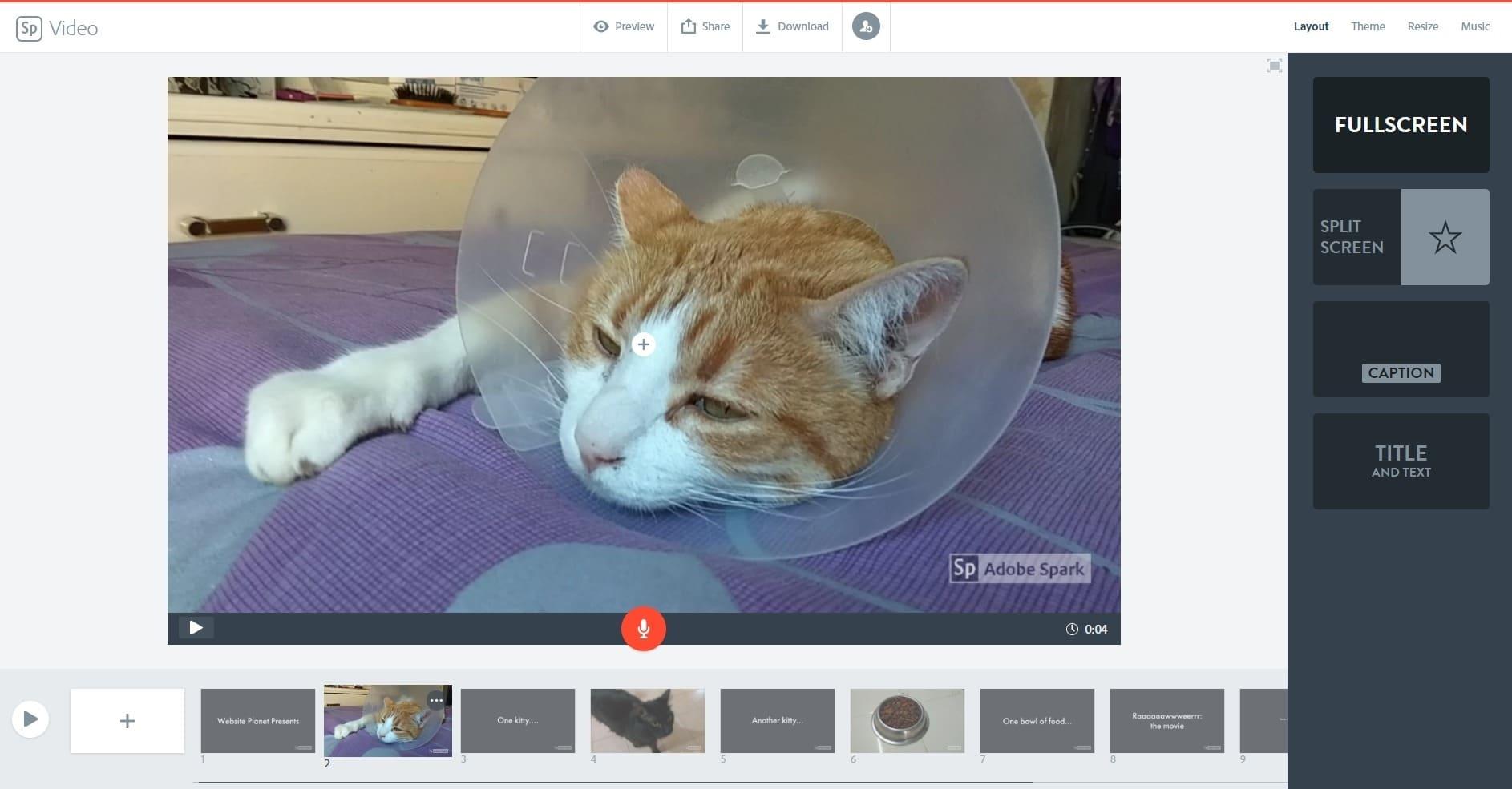 best online video editors - adobe spark