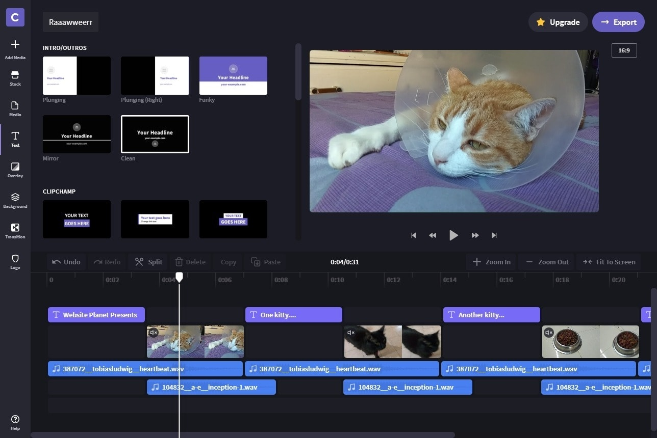 best online video editors - clipchamp