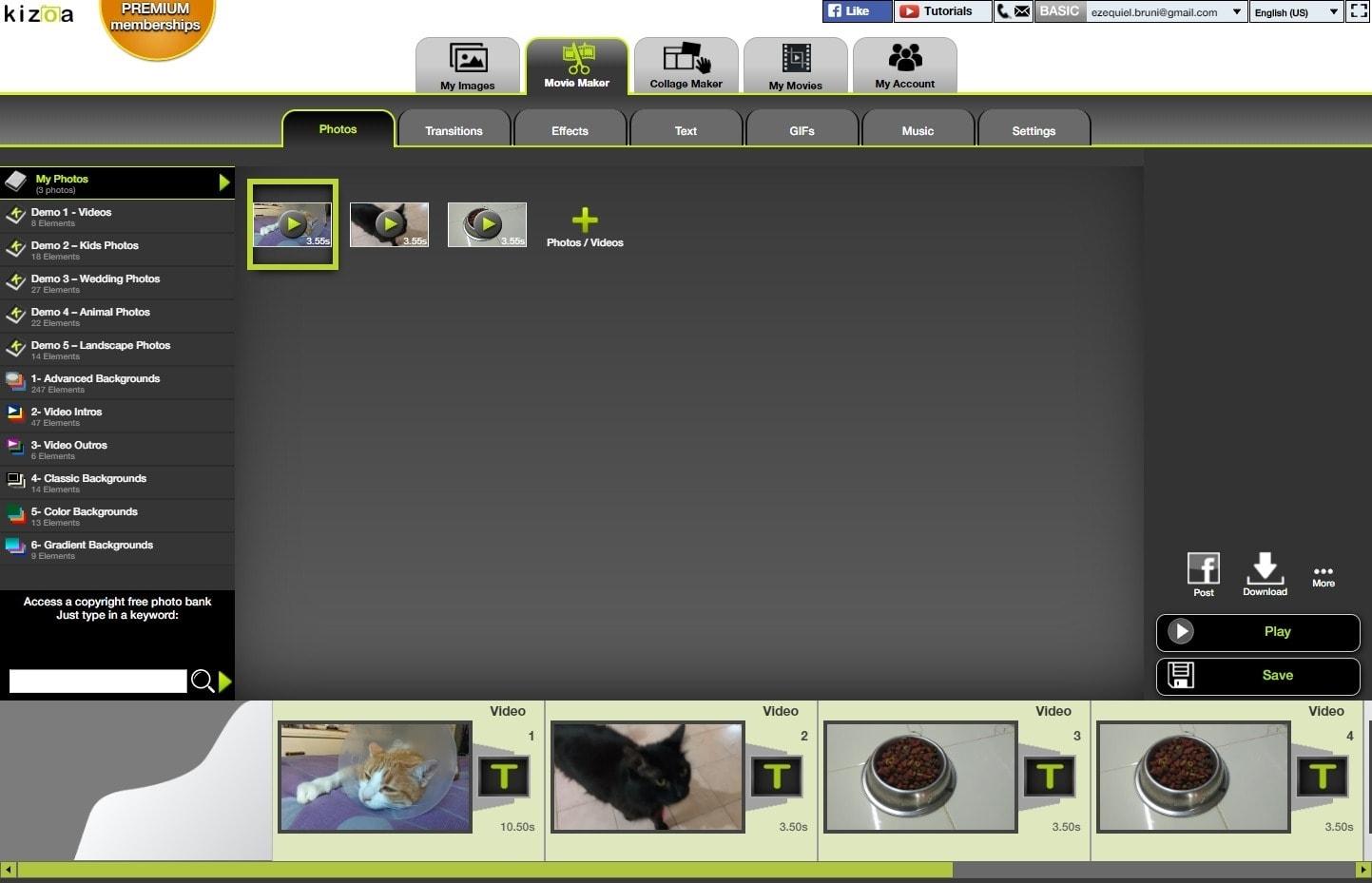 best online video editors - kizoa