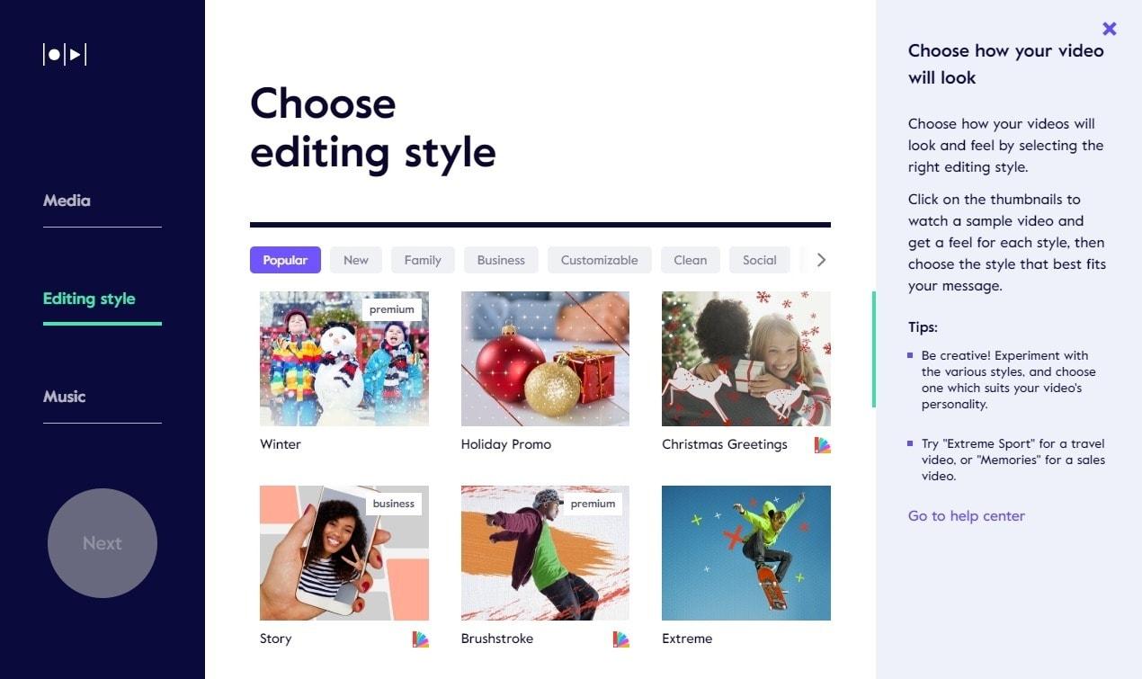 best online video editors - magisto