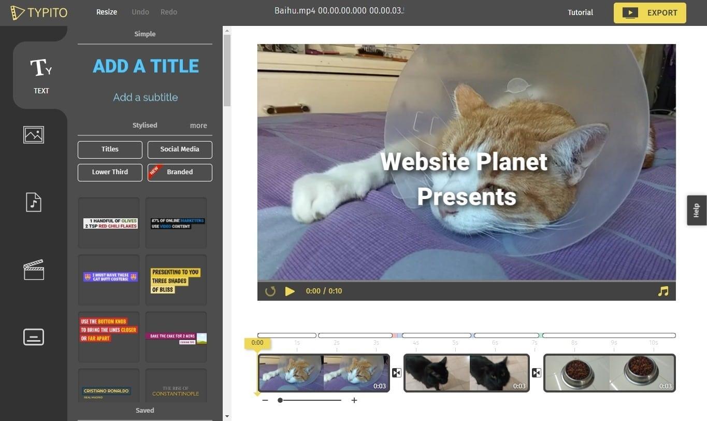 best online video editors - typito