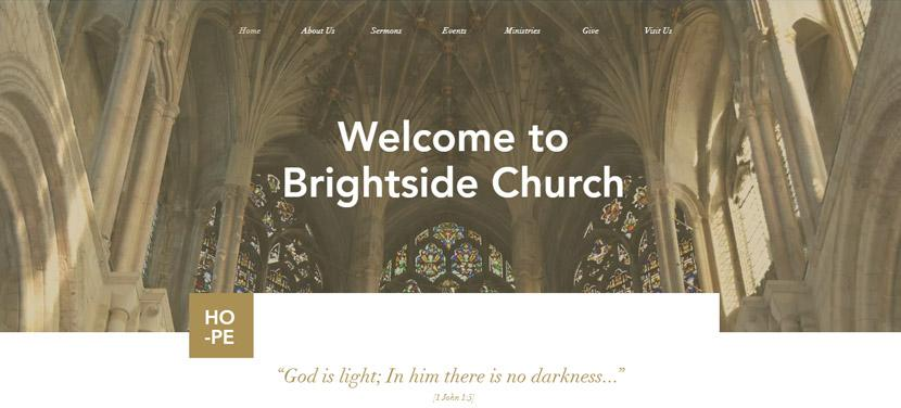 Wix - Church site template