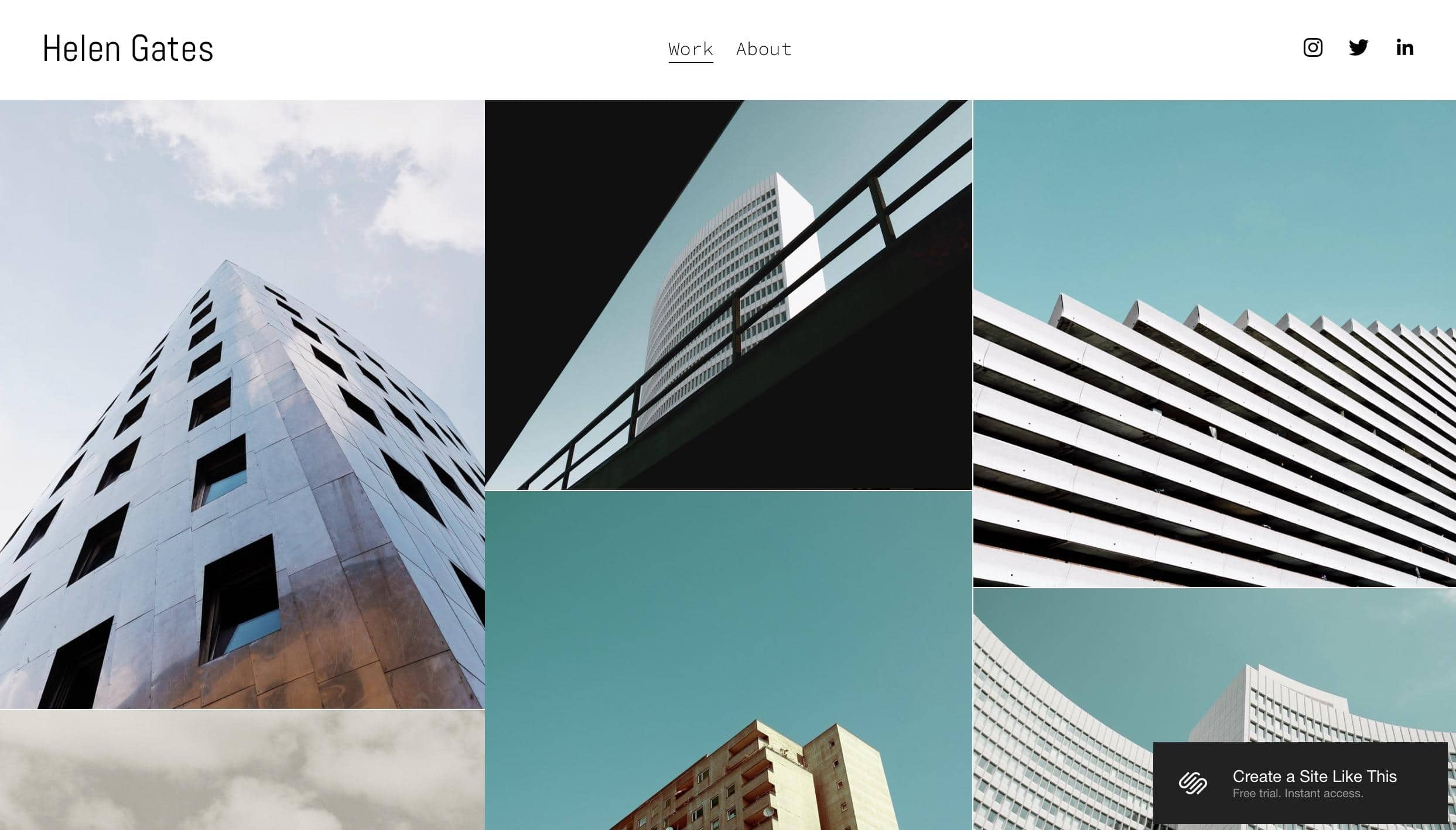 Squarespace Gates website template