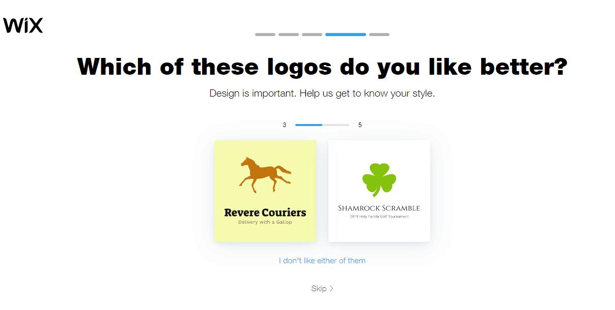 Wix Logo Maker screenshot - Logo preferences