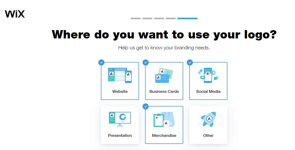 Wix Logo Maker screenshot - Where you use your logo